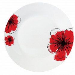 FARFURIE INTINSA PORT. 23CM, RED FLOWERS