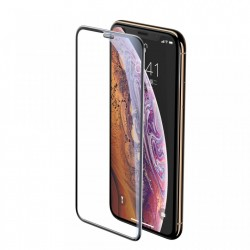 Folie Apple iPhone 11 Pro Max / iPhone XS Max , Sticla Securizata 3D, Full Screen, Protectie Praf Difuzor, Baseus, black (SGAPIPH65-WA01)