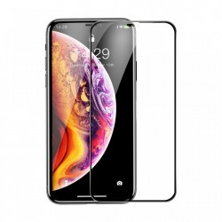 Folie de protectie din sticla 0.3 mm Baseus Rigid-edge pentru Apple iPhone XI 6.5 / iPhone XS Max negru SGAPIPH65-AJG01