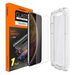 Folie iPhone XS Max Spigen GLAS.tR Ez Fit 9H - Transparent