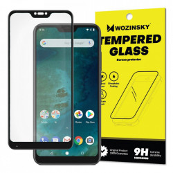 Folie protectie Wozinsky Full Glue Super Tough Screen Protector Full Coveraged with Frame Case Friendly pentru Xiaomi Mi A2 Lite / Redmi 6 Pro black