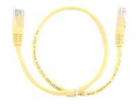 GEMBIRD PP12-0.25M/Y Gembird patchcord RJ45 cat.5e UTP 0.25m yellow