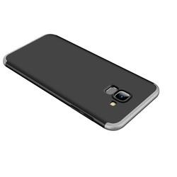 Husa 360° Matte Full Protection Gema Mixt pentru Samsung Galaxy A8 2018 A530 (fata + spate ) , silver