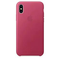 Husa de protectie Apple pentru iPhone X, Piele, Pink Fuchsia