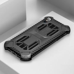 Husa protectie cu gauri pentru ventilatie, Baseus Cold Front, pentru iPhone XS / X, negru