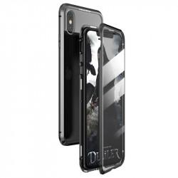 Husa protectoare Wozinsky magnetic 360 iPhone XS Max - transparent/negru