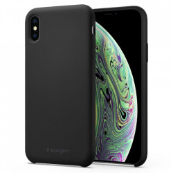 Husa Spigen Silicone Fit iPhone X/Xs - negru