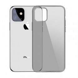 Husa telefon Baseus Simple Series Transparent Gel TPU Cover pentru iPhone 11 black (5ARAPIPH61S-01)
