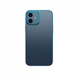 Husa telefon din gel flexibil cu margine lucioasa si metalica, Baseus Shining iPhone 12 mini Navy blue (ARAPIPH54N-MD03)