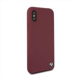 Husa telefon din piele ecologica , perforata , tip bumper , Bmw pentru Apple iPhone X/Xs , rosu