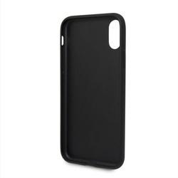 Husa telefon din piele ecologica , perforata , tip bumper , Bmw pentru Apple iPhone X/Xs , neagra