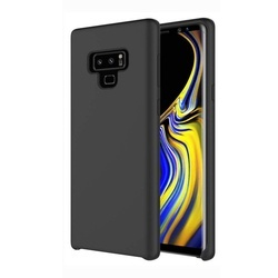 Husa telefon din silicon flexibil cu interior din material impotriva zgarieturilor , Gema Mixt pentru Samsung Galaxy Note 9 N960 , negru