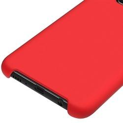 Husa telefon din silicon flexibil cu interior din material microfibra impotriva zgarieturilor , Gema Mixt pentru Samsung Galaxy S10E , rosu