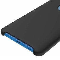Husa telefon din silicon flexibil cu interior din material microfibra impotriva zgarieturilor , Gema Mixt pentru Huawei Mate 20 , negru