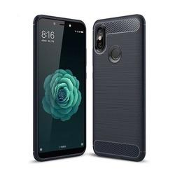 Husa telefon TPU model carbon , Gema Mixt pentru Xiaomi Mi A2 / Mi 6X , albastra