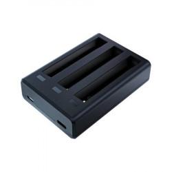 Incarcator cu 3 sloturi Telesin pentru baterii Insta360 One X2 + 2 (IS-BCG-004)