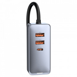 Incarcator Retea USB Baseus Share Together, Quick Charge, 120W, 2x USB - 2x USB Type C, Gri CCBT-A0G