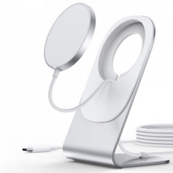 Incarcator wireless cu stand Choetech 15W Magnetic Qi (MagSafe Compatible) White (T517-F)