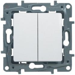 Intrerupator dublu cap scara, 10A Legrand Niloe 664502 - 1 modul