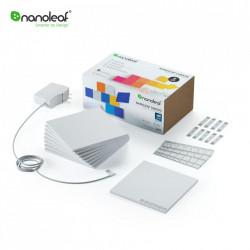 Kit 9 Panouri luminoase inteligente Nanoleaf Canvas cu senzor muzica, LED RGBW, Wi-Fi, Control tactil, Control de pe telefonul mobil