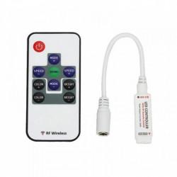 Mini controller pentru banda LED RGB, 12V, 72W, 6A, telecomanda RF 10 taste