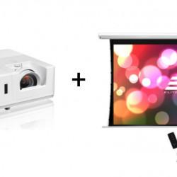 Pachet videoproiectie cu OPTOMA laser ZH606e si ecran electric EliteScreens Saker SKT135XHW-E6, 16:9