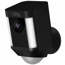 RING Camera de Supraveghere Spotlight HD Cu Difuzor Si Microfon, Camera 1080 HD, Ring-Always Home App, Negru