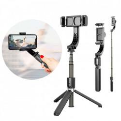 Selfie Stick cu suport telescopic Tripod și gimbal + telecomanda Bluetooth, Baseus negru