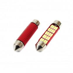 Set 2 x LED CANBUS 12SMD 4014 Festoon 41mm White 12V/24V 01634