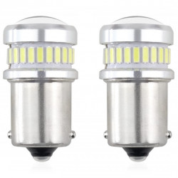 Set 2 x LED CANBUS 3014 24SMD + 3030 6SMD 1156 (R5W, R10W) P21 White 12V/24V