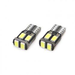 Set 2 x LED VERTEX CANBUS 6SMD-2 5730 T10 (W5W) White
