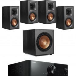 Sistem 5.1 cu boxe Klipsch R-51M, R-52C, R-120SW si receiver Yamaha RX-V4A, WIFI, Bluetooth