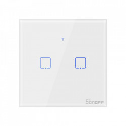 Smart Switch WiFi + RF 433 Sonoff T1 EU TX (2 canale)