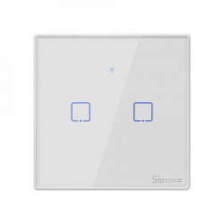 Smart Switch WiFi + RF 433 Sonoff T2 EU TX (2 canale)