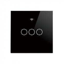 SmartWise T4 EU 3C WiFi + RF comutator de lumina inteligent controlabil de la distanta (functioneaza numai in direct, fara neutru) (R2, negru)