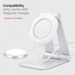 "Stand pentru incarcator Apple MagSafe Spigen Magfit ""S"" White"