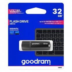 Stick USB Goodram 32 GB USB 3.2 Gen 1 60 MB/s (rd) - 20 MB/s (wr) flash drive black (UMM3-1280K0R11)