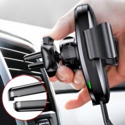 Suport auto, Baseus Wireless Gravity, cu incarcare wireless Qi , negru