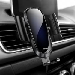 Suport auto din aluminiu si sticla securizata , Baseus Future Gravity , negru