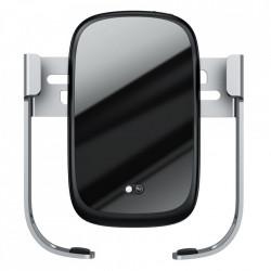 Suport Baseus telefon auto, incarcare wireless, 10W - gri