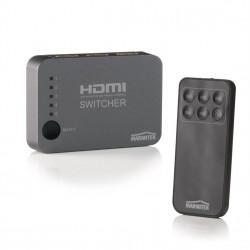 Switch, selector HDMI Marmitek Connect 350 UHD, cu telecomanda si extensie IR, 5 intrari, 4K support