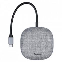 Adaptor Baseus 7in1 USB Type C Multifunctional HUB, memory card reader, network (USB, USB Typ C PD, RJ45, HDMI, SD, micro SD) gray (CAHUB-DX0G)
