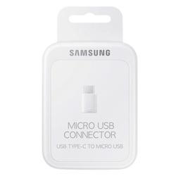 Adaptor telefon, Samsung, Micro USB la USB Type C, alb