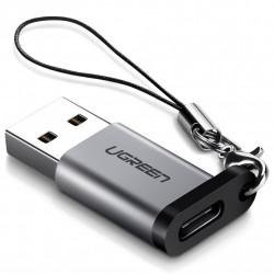 Adaptor UGREEN USB A la USB-C 3.0 (gri)