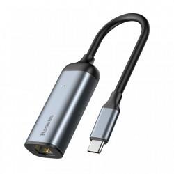 Adaptor USB-C la RJ45 (LAN), Baseus Enjoy HUB, gri