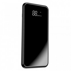 Baterie externa/Power bank cu incarcare Wireless si stand telefon , Baseus Bracket 8000 mAh , negru