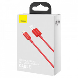 Cablu Baseus Superior USB - Lightning fast charging data cable 2,4 A 2 m red (CALYS-C01)