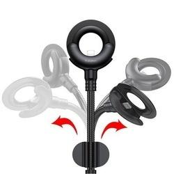 Cablu De Date 2in1 Lightning + Suport Auto Baseus O-Type Series, negru