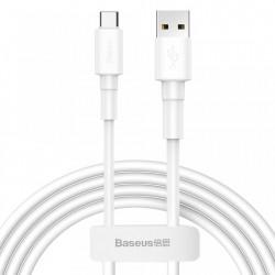 Cablu de date , Baseus durable USB cable / USB Type C 3A 1m alb (CATSW-02)