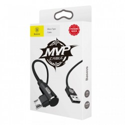 Cablu de date si incarcare , Baseus MVP Double Elbow , micro USB , 2M , negru